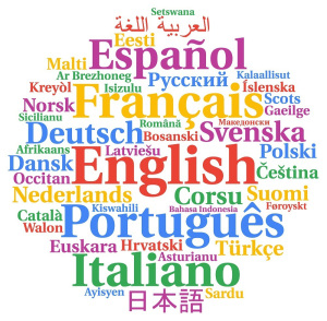 Multilingual languages word cloud concept